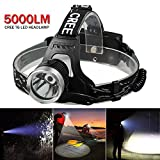 Headlamp 12000LM CREE XM-L T6 LED Rechargeable Flashlight Head Light Lamp 18650