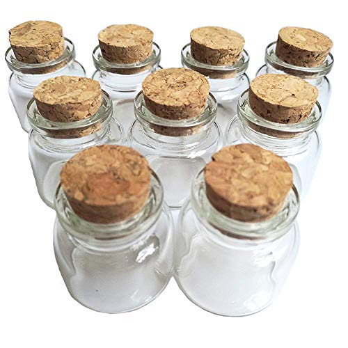 Luo House 10PCS 15ml Cute Small Cork Stopper Glass Bottle Vials Jars with Cork 30x40mm