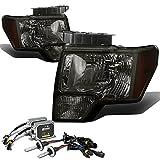 Ford F-150 Headlight (Smoke Lens Amber Reflector)+12000K HID+Thick Ballasts - 12 Gen