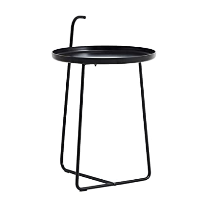 Incroyable XBBZ Simple Modern Metal Wrought Iron Side Table, Black Matte Nordic Style  Living Room Study