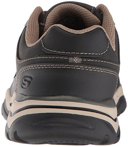 Skechers Para Hombre Rovato-texon Oxford Black Taupe