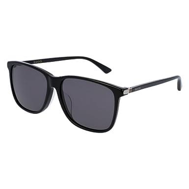 Gucci Herren Sonnenbrille GG0017SA 001, Schwarz (Black/Grey), 58