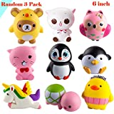 Baby : WATINC Random 3 Pcs Jumbo Animal squishy Sweet Scented Vent Charms Slow Rising squishies Kawaii Kid Toy , Lovely Stress Relief Toy, Animals Gift Fun Large