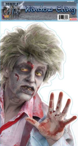 Peeping Zombie Window Cling (Pack of 12)