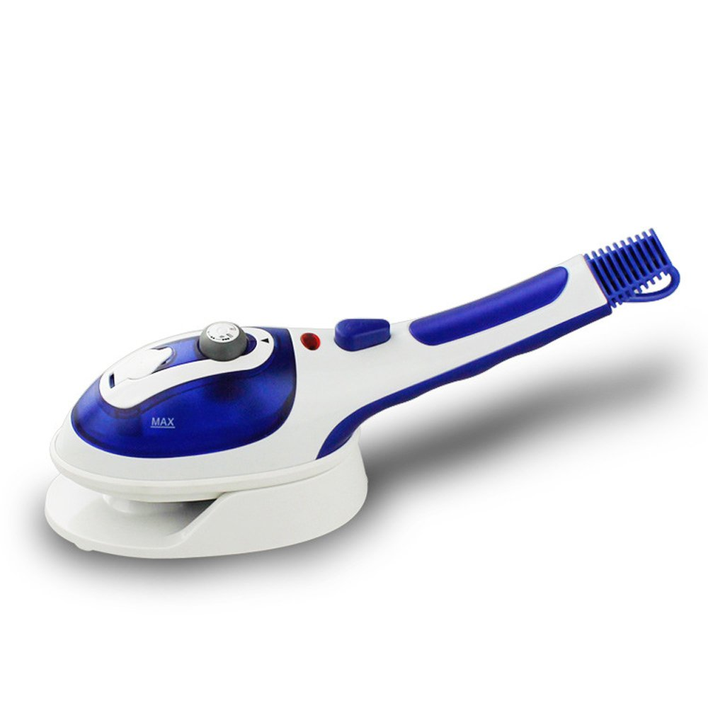 Rumfo Professional Handheld Garment Steamers, Steam Iron, Portable Iron, Iron with steamer, Fast Steam Humidifier Mini Iron Household Steamer (Blue)