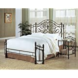 Coaster Violet Iron King Bed in Antique Green