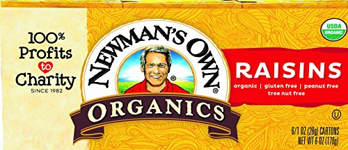 Organic Raisins - Newman's Own Organics Raisins, 1-Ounce Boxes (Pack of 6)