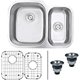 Ruvati RVM4500 Undermount 16 Gauge 29  Kitchen Sink Double Bowl