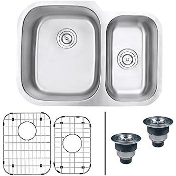 ruvati rvm4500 undermount 16 gauge 29 kitchen sink double bowl. beautiful ideas. Home Design Ideas