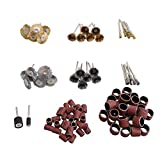 BQLZR 98pcs Sanding Sand Bands Sanding Paper Loop Wire Brush Rotary Tools Accessory Set fits Grinding