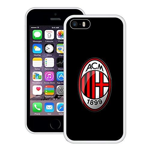 AC Milan | Handgefertigt | iPhone 5 5s SE | Weiß TPU Hülle