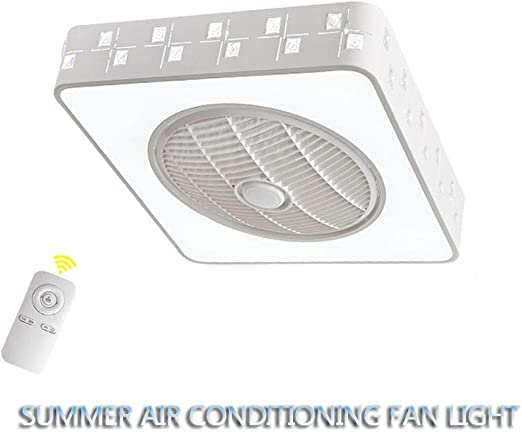 Yc Light fan Ventilador De Techo con Luz Y Mando A Distancia LED ...
