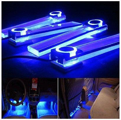 Y107 Car Charge 12v 4 in 1 LED Interior Decoration Floor Decorative Light Lamp - Spot Frame Rocker