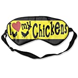 Sleep Mask I Love My Chickens Eye Cover Blackout Eye Masks,Soothing Puffy Eyes,Dark Circles,Stress,Breathable Blindfold For Women Men