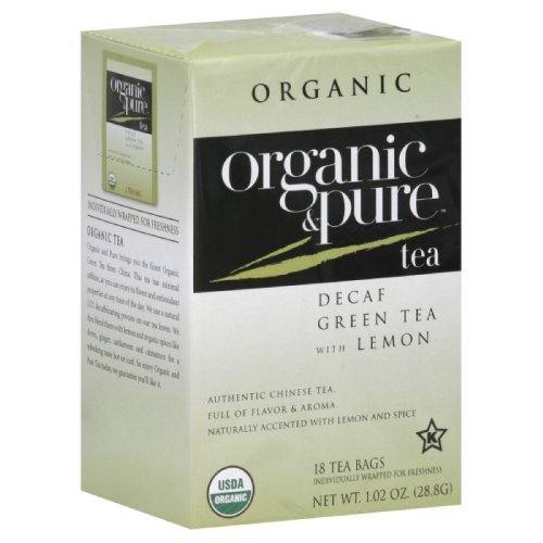 - Organic & Pure Decaf Green Tea With Lemon, 18 count (Pack of 6)