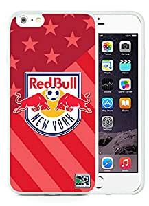 Fashionable And Antiskid Designed iPhone 6 plus Case MLS New York Red Bulls iPhone 6 Plus 5.5 inch TPU Case Cover 15 White