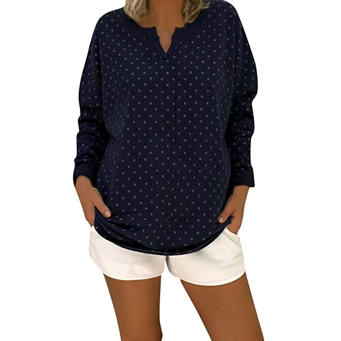 ❤ Tefamore Camiseta Sueltas Mujer, 2018 Blusas para Mujer, Tops Largas de Béisbol de Moda, Mujer Larga Manga Impresión Tops T-Shirt Casual Blusón: ...