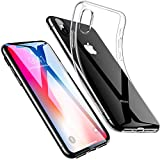 ESR iPhone X Case, iPhone 10 Case,Crystal Transparent Clear Flexible Soft Gel TPU Cover Shell Skin [Support Wireless Charging] [Slim Fit] for Apple 5.8' iPhone X /iPhone 10 (2017 Release)(Clear)