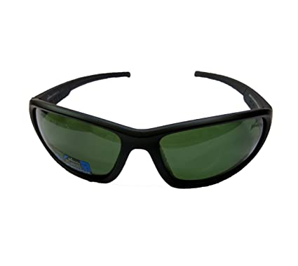 05b7989a96 Buy Velocity Polarized Wrap Around Sunglasses (Black-Green) Online at Low  Prices in India - Amazon.in
