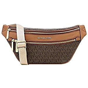 Michael Kors Kenly Medium Crossbody Waist Pack Brown Signature