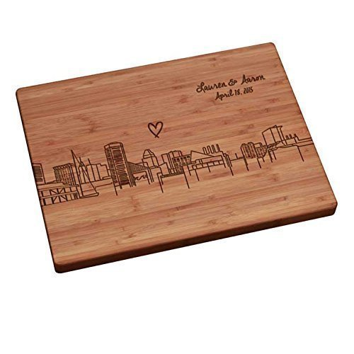 Personalized Cutting Board - Baltimore Skyline