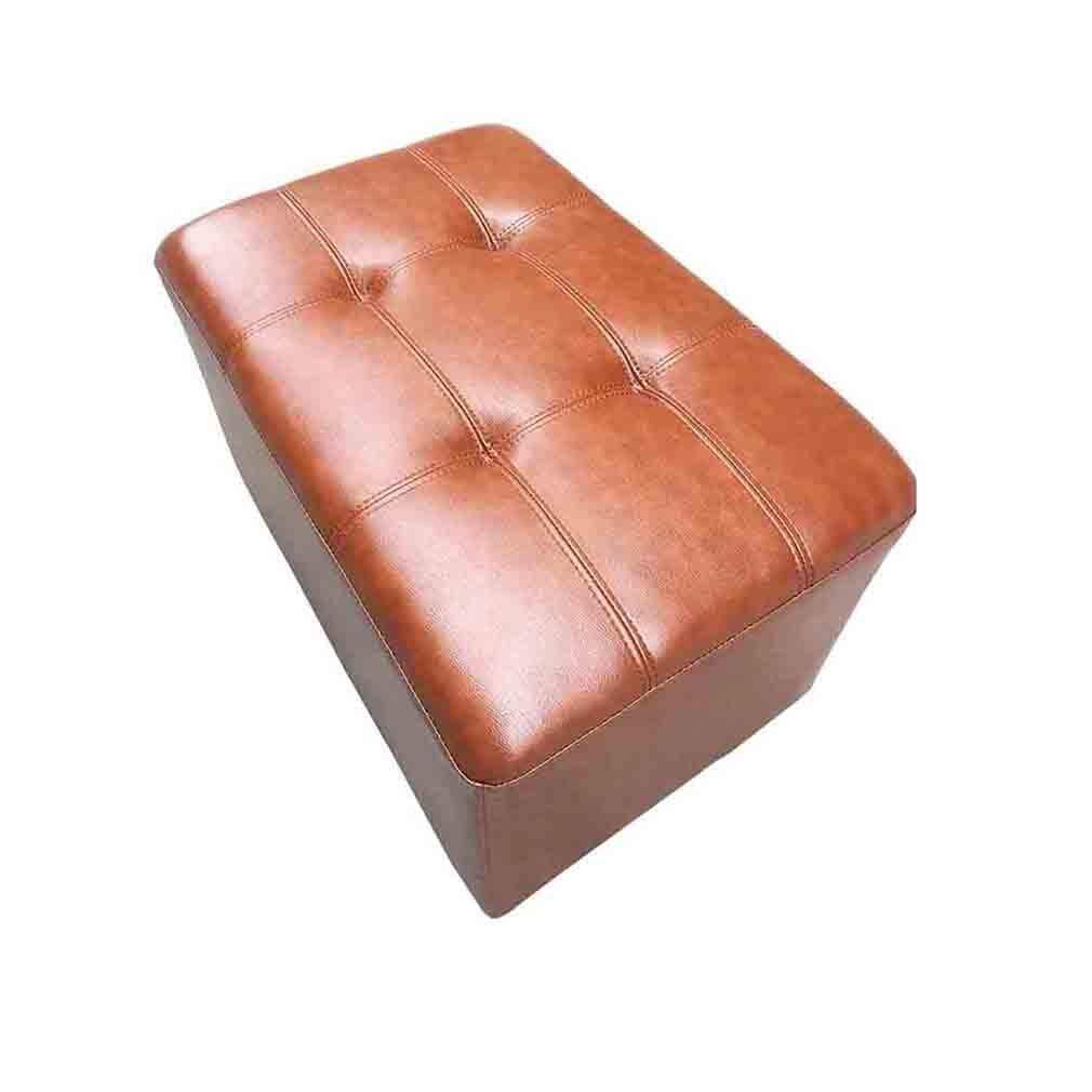 FVGH Rechteck Ottoman Bench Kunstleder Square Change Schuhe Bank Puffs Hocker Tee Tisch Sofa Hocker (Größe: 120 Times; 40 Times; 40 cm)