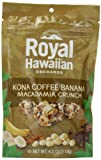 Royal Hawaiian Orchards Macadamia Crunch, Kona Coffee Banana, 4 Ounce
