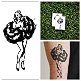 Marilyn Monroe - temporary tattoo (Set of 2)