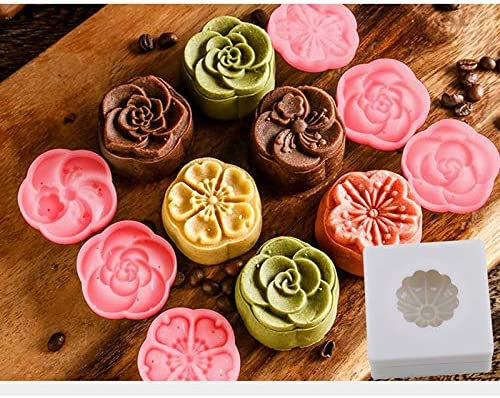 KLUMA 月餅モールド ムーンケーキの型 ケーキ型 ケーキモールド ベーキングモールド キッチン用品アクセサリー 中秋月餅 お菓子 クッキー ケーキ サンフラワー
