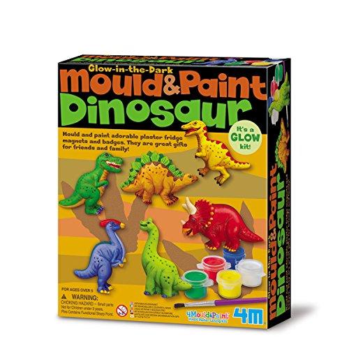 4M 5603514 - Loisir Créatif - Kit de Moulage - Dinosaures Phosphorescents