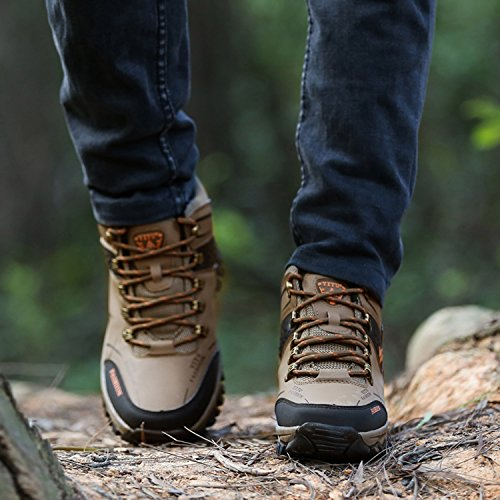 LILY999 Men's Hiking Shoes Walking Shoes Sports Outdoor Antiskid Warm Cushioning Boots Brown l4nQZ