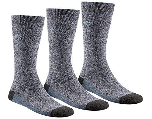 Columbia Men's Cotton Crew, Charcoal, 10-13 Sock Size (Shoe Size 6-12)