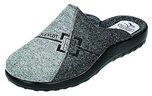 Fly Flot - Zapatillas de estar por casa para hombre Gris gris gris