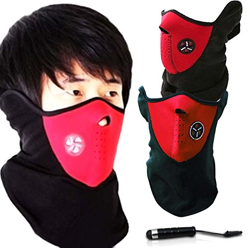Unisex Ski Mask Neck Warmer, Neoprene Face Mask Winter Cold Weather Face Mask for Motorcycles, Bicycle, Skiing, Running Face Mask,Mountain Climbing - Balaclava Face Masks, jet ski mask