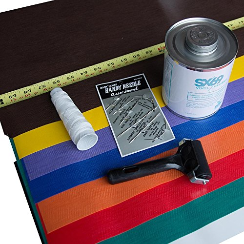 Kit Moose - Moose Vinyl Deluxe Repair Kit Includes 32oz Sx Glue, Assorted Patches, Needles, Thread, Roller (Solid)