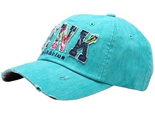 Ladies Ball Cap - Raon B82 Sexy Women Girl Flower PINK Cute Lady Design Ball Cap Baseball Hat Truckers (Teal)