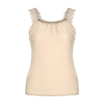 62043f8f Amazon.com: Womens Sexy Lace Tank Top Spaghetti Straps Lace Plain T-Shirts  Sleeveless Blouse Mock Neck Cami Vest: Kitchen & Dining