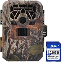FULLLIGHT TECH 16GB No Glow Wildlife Camera Motion Activated 12 MP 1080P Trail & Game Camera with Infrared Night Vision Built-in 2.0 Color LCD Screen Bestguarder Outdoor Waterproof Security Cameras