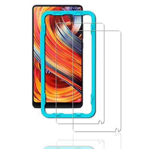 Ibywind 2PCS Pack Xiaomi Mi Mix2 Screen Protector,Bubble Free Installation Applicator Tempered Glass Screen Protector [Anti-Fingerprint] For Xiaomi Mix ()