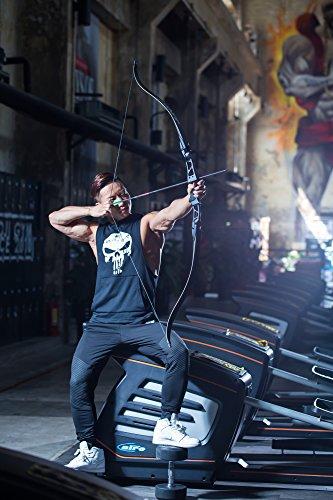 ーチェリー用弓弓道練習専用弓弓56インチ30-50lbsロングボウカーブボウ 取り外し可能組立簡単高品質 (26)