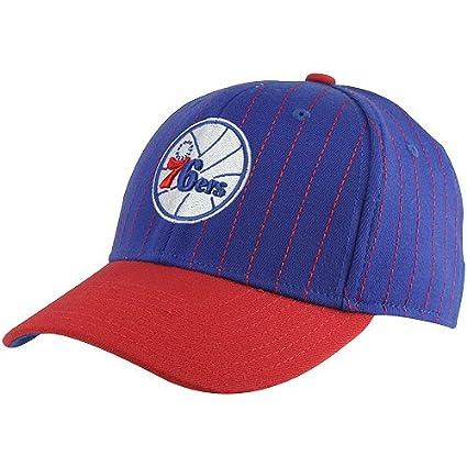 4d21511183b0e NBA adidas Philadelphia 76ers Pinstripe Flex Hat - Royal Blue Red (Small  Medium
