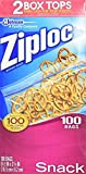 Ziploc Snack Bags, Value Pack, 100 Count- Pack of 3- 300 Count Total