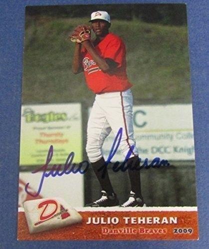 Julio Teheran Braves Signedautographed Grandstand Baseball