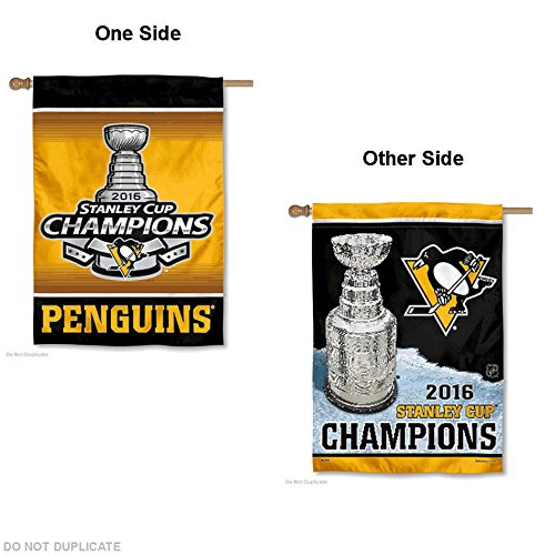 Wincraft Pittsburgh Penguins Double Sided Champs House Flag and Banner ()