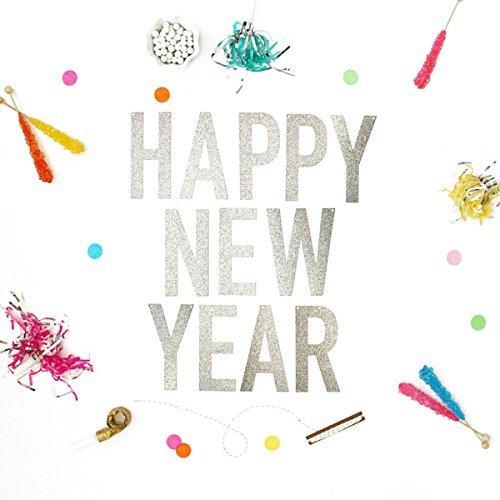 happy new year glitter banner
