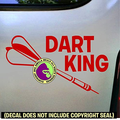 (Darts - DART KING Vinyl Decal Sticker D)