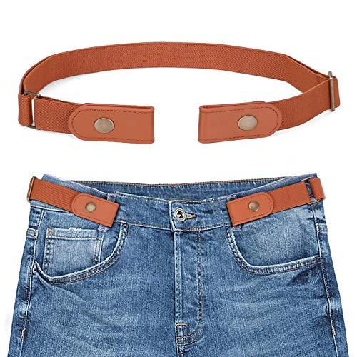 Buckle-free Elastic Women Belt for Jeans without Buckle, SANSTHS Comfortable Invisible Belt No Bulge No Hassle (Fit pants 22