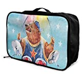 Best  - Travel Bags Watercolor Bear Playing On Drums Blue Review