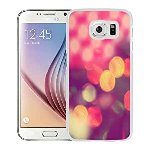 Fashion Custom Designed Cover Case For Samsung Galaxy S6 Bokeh White Phone Case