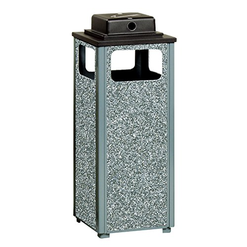 - Rubbermaid Commercial Products FGR12WU2000PL Dimension 500 Series Ash/Trash Refuse Container with Weather Urn (12-Gallon)
